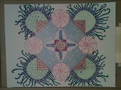 Mother's color doodle (Prairiekittin) Tags: zentangle