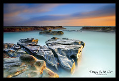 Burwood-Beach (Kiall Frost) Tags: ocean longexposure blue orange seascape colour beach water clouds sunrise newcastle landscape photography nikon rocks aqua surf photographer le burwood nswaustralia d7000 kiallfrost
