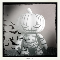 31 Days of Halloween 23 (welovethedark) Tags: halloween iphone arttoys toy2r iphonecamera jonpaulkaiser iphonecameraapps hipstamatic samuraipumpkinqee