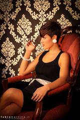 Vintage girl 2  - Raissa Secl (famartina) Tags: portrait girl fashion vintage chair legs smoking sedia ragazza gambe sigaretta retr