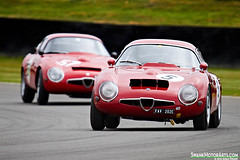 Alfa Romeo Giulia TZ1s (autoidiodyssey) Tags: england cars race vintage sussex alfaromeo giulia chichester 1965 1963 goodwoodrevival tz1 fordwatertrophy charlesknilljones marcocajani 2012goodwoodrevival