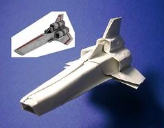 Colonial Viper origami new photo (Matayado-titi) Tags: origami fighter vehicle spaceship viper starship battlestar galactica bsg starfighter sugamata matayado