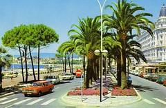 Cannes, La Croisette et l'Hotel Carlton (F) 1976/79 (Fuego 81) Tags: france ford boulevard fiat cannes citroën renault 127 2cv taunus 204 1000 peugeot 504 r4 126 simca 128 croisette r6 hotelcarlton r12 r15