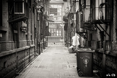 IMG_1629 (ExceptEuropa) Tags: life china street old city people bw white black building architecture canon asia mark chinese culture ii valley 5d local usm  tradition wuhan ef hubei  hankou  2470mm