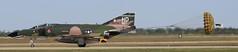 F-4 Phantom Landing (Bill Jacomet) Tags: show field wings texas air over houston landing airshow phantom f4 2012 ellington