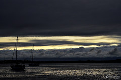 O Tejo  mais belo // Hommage to Fernando Pessoa (fcribari) Tags: sunset brazil sky water silhouette gua brasil natal clouds boats boat nikon barco ship barcos cu prdosol nuvens riograndedonorte silhueta d7000