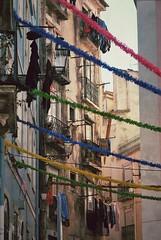 Mouraria (Lou Morgan) Tags: street decorations portugal europe lisboa lisbon laundry portuguese alfama wasing mouraria