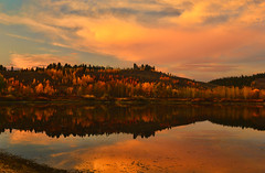 Twilight at the Bend (Jeff Clow) Tags: autumn vacation holiday fall tourism evening twilight bravo dusk getaway grandtetonnationalpark oxbowbend jacksonholewyoming cattlemansbridge tpslandscape tpsnature