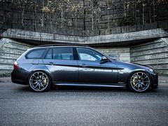 BMW 325D E91 (Zamot) Tags: black car wheels performance olympus front 330 bmw brakes lip grille f18 330i 325 45mm omd vmr bilstein tuned nrburgring 335 330d 320d 325d em5 e91 335i v701