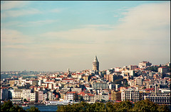 Istanbul panorama - Galata tower 01 (Katarina 2353) Tags: city travel autumn sea vacation panorama history fall film horizontal skyline modern buildings turkey temple photography nikon asia europe day exterior image islam religion trkiye citylife nopeople istanbul empire spirituality turks istambul romanempire byzantine clearsky traditionalculture galata constantinople byzantium virtualtour urbanscene galatatower colorimage famousplace ottomanempire easternromanempire traveldestination turkishculture builtstructure katarinastefanovic katarina2353