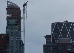 Closeup of the crane dangling over 57th Street