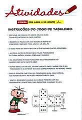 Jogos de Tabuleiro sobre Trnsito da Turma da Mnica. (Atividades Educao Infantil) Tags: turmadamnica datascomemorativas educaonotrnsito jogosebrincadeiras