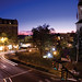 Downtown Harrisonburg at night