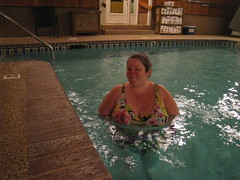 JulieAnn in the pool (sixty8panther) Tags: woman cute sexy wet pool beautiful smile lady hair pretty julie bbw curvy ann wife swimsuit callipygian