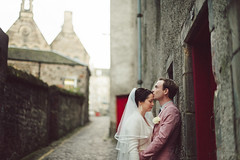 . (joannablu kitchener) Tags: pink autumn wedding red groom bride scotland cool nikon jacket nikkor edinburg stylish d700 kitchenerphotography