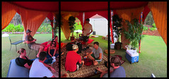 2012_1028_007 (seannarae) Tags: jeff matt emily october kevin triptych panel mark pano sunday tent derek hi robb hookah 2012 day06 s95