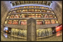 LBJ Presidential Archives (Edward Nygma Photography) Tags: blue light red white house black art history glass museum architecture stairs photoshop austin photography lights star photo mural stair texas unitedstates state photos pages library president politics country whitehouse johnson archive presidential collection edward capitol research photographs national photograph collections document archives historical archival photoart lonestar documents politic lyndon baines lbj atx nygma