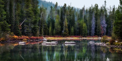 Early Morning on String Lake 1500px (Matt Anderson Photography) Tags: morning lake color reflection horizontal forest landscape fishing outdoor hiking shoreline scenic nobody panoramic calm adventure evergreen string destination wyoming grandtetons deciduous conifer mattanderson gettingawayfromitall roomforcopy mattandersonphotography connivers