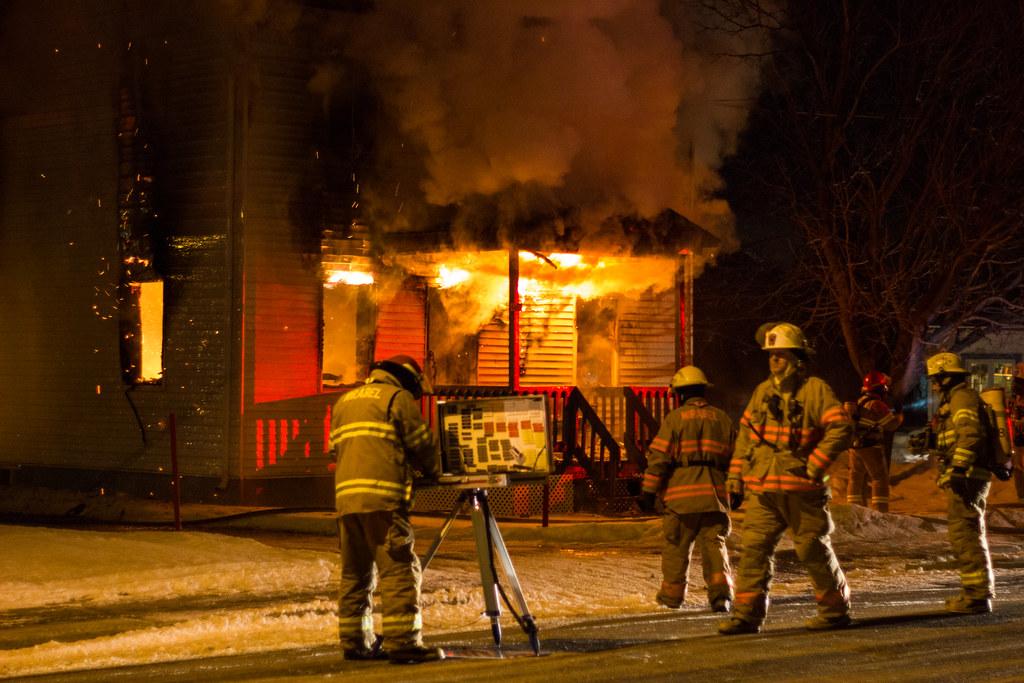 Pompiers à l'oeuvre