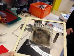 spread carbon nicely (Danka) Tags: diy iad zurich workshop howto carbon interactiondesign tutorial eap handson bhp doublesidedtape shapeshifting nanoparticles zhdk zrcherhochschulederknste florianwille electroactivepolymers