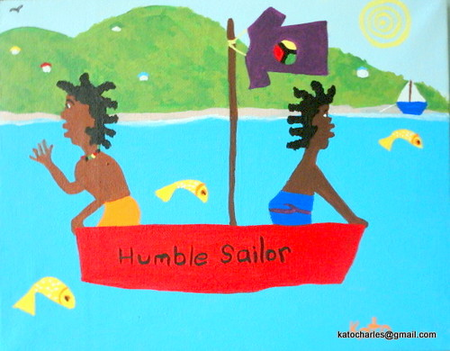 """Humble Sailor"", Acrylic on canvas, 8"" x 10"".  FOR SALE."