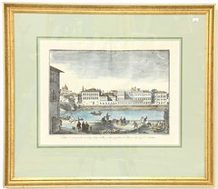 57. One of a Pair of 18th Century Antique Engraving of the Palazzo Corsini in Rome