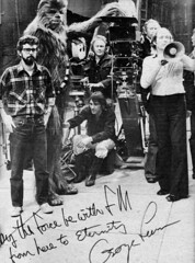 May the Force be with Famous Monsters from here to Eternity, George Lucas (Tom Simpson) Tags: georgelucas starwars behindthescenes film vintage 1978 1970s chewbacca petermayhew movie famousmonsters famousmonstersoffilmland