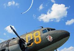 Look Up in the Sky!  It's a Plane! - Douglas C-47 (N15SJ) (dlberek) Tags: nose secondchance skytrain dakota douglasc47 n15sj