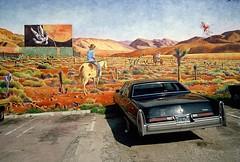Venice Beach. Los Angeles, USA, 1977 (Lasse Persson) Tags: car parking wall venicebeach usa 1970s vehicle losangeles