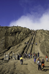 Staircase up to Mount bromo (narenrit) Tags: bromo mountain mist light sun sunrise cloud sky morning valcano tree view beauty hill top scenic indonesia tropical asia asian east cliff travel trip mount sapatate different village country
