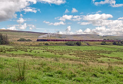 LMS Jubilee Class 4-6-0 No 45690 Leander climbe past Shap Wells CME 6 Aug 2016 (FlyingScotsman4472) Tags: lms 45690 jubilee leander shap wells cumbrian mountian express cme steam westmorland main line preservation
