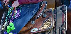 Western Gear (BKHagar *Kim*) Tags: bkhagar mardigras neworleans nola la parade party celebration carnival horse rider western cowgirl street napoleon outdoor people crowd beads throws saddle leather