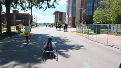 (sfrikken) Tags: tina handcycle bicycle bike ride drive madison s bedford st john nolen dr lake monona horse police mounted