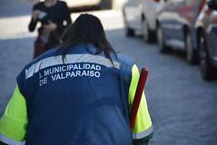 municipal street sweeper (cam17) Tags: chile valparaiso valparaisochile streetsweeper municipaluniform municipalworker