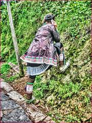 The purple clothes of Miao women (Immagini 2&3D) Tags: miaominority miaovillage basha congjiang guizhou china
