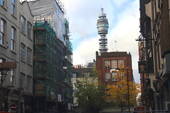 The BT Tower_seen from_Rathbone Place_London_Nov15 (Ian Halsey) Tags: bt thebttower thebttowerlondon londonlandmarks visitlondon geotagged imagesgooglecom copyright:owner=ianhalsey location:london=bttower flickr:user=ianhalsey flickriver exif:model=canoneosm londonskyline