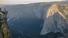 Big and Small (Carter_Wilson) Tags: adventure elcapitan granite sunrise taftpoint yosemite