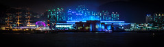 Panoramic view of Expo 2012 Yeosu at night (César Corona) Tags: 2012 expo fireworks korea opening worldexpo yeosu