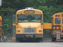 First Student #561 (ThoseGuys119) Tags: firststudentinc schoolbus fs65 saftliner 2005 white top thomas built wallkill ny