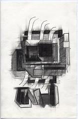Basel_04 (JENS01) Tags: bleistift zeichnung pencildrawing drawing art kunst sketch skizze malen abstrakt abstractart graphite sketchbook skizzenbuch blackwhite