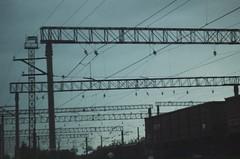 (Annie Kvijinadze) Tags: railway station road trip travel sky old vintage explore train art analog photography film 55mm