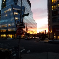 LIC Sunset with Chrysler building (svensmail) Tags: lic samsung nyc chryslerbuilding sunset evening lowlight