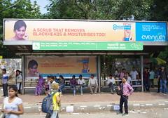 Wait here for perfect skin (Badly Drawn Dad) Tags: betweendelhiandagra billboard blackheads busstop delhi geo:lat=2857436655 geo:lon=7726087017 geotagged ind india mahatmagandhiroad