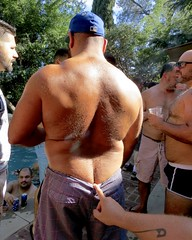IMG_7922 (danimaniacs) Tags: party shirtless man guy sexy hot bear hat cap ass butt crack back bare hairy