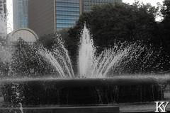 Hibiya park 11, the fountain (ZKent.Yousif) Tags: chiyodaku tkyto japan jp  chku  minatoku canon sigma sigma1750mm 50mm streetphotography street park parks bw blackandwhite