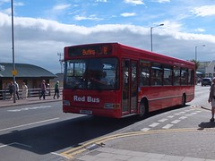 Red Bus V618EVO Skegness (Guy Arab UF) Tags: red bus v618evo dennis dart slf plaxton pointer grand parade skegness lincolnshire buses stotts coaches tees valley supertravel