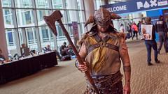 PAX West 2016 -  10 (Thor Hanks) Tags: pax paxwest 2016 seattle pennyarcadeexpo paxprime games videogames convention geek nerd viking skyrim rpg cosplay costume axe helmet