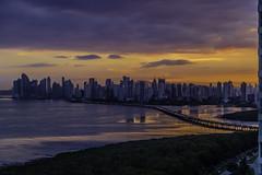 Panama City (Bernai Velarde-Light Seeker) Tags: sunset atardecer city ciudad panama central centro america bernai velarde buildings edificios corredorsur pacific pacifico ocean oceano mar sea