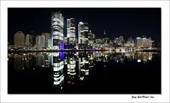 Early morning reflection (jongsoolee5610) Tags: sydneynight darlingharbour sydney australia city night reflection dawn