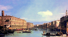 Canaletto - Wallraf-Richartz-Museum & Fondation Corboud. View of the Grand Canal (c. 1735) (lack of imagination) Tags: 15002000 blog boats buildings canaletto cityscape gondolas people wallrafrichartzmuseumfondationcorboud
